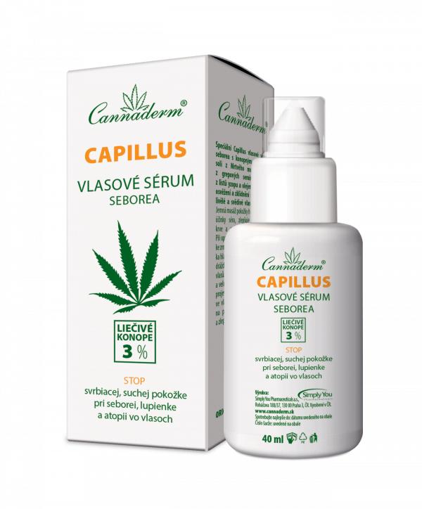 Cannaderm Capillus – vlasové sérum seborea 40ml