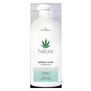 Cannaderm Natura – pleťová voda s alkoholom na mastnú pleť 200 ml