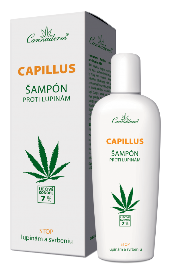Cannaderm Capillus – šampón proti lupinám NEW 150 ml